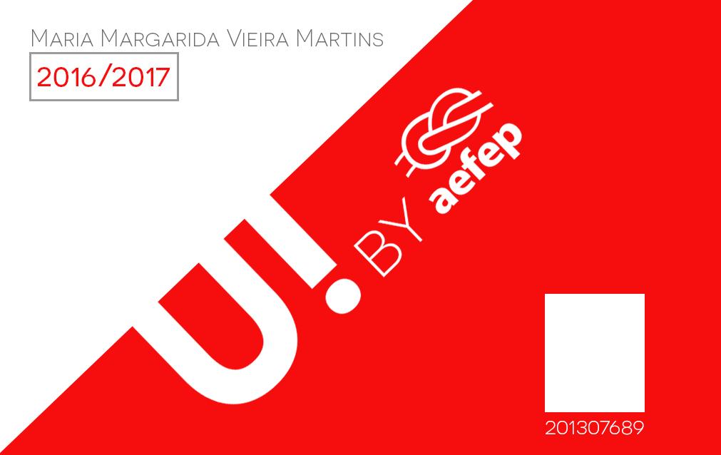 """Cartão de sócio """"U! by AEFEP"""""""